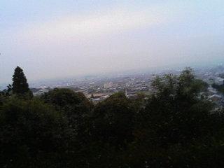 白毫寺から南都を望む
