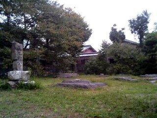 元興寺塔跡の礎石