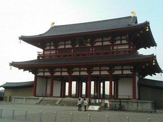 平城宮の復元された朱雀門