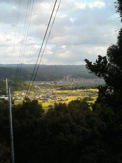 海住山寺への道のりから加茂町を望む